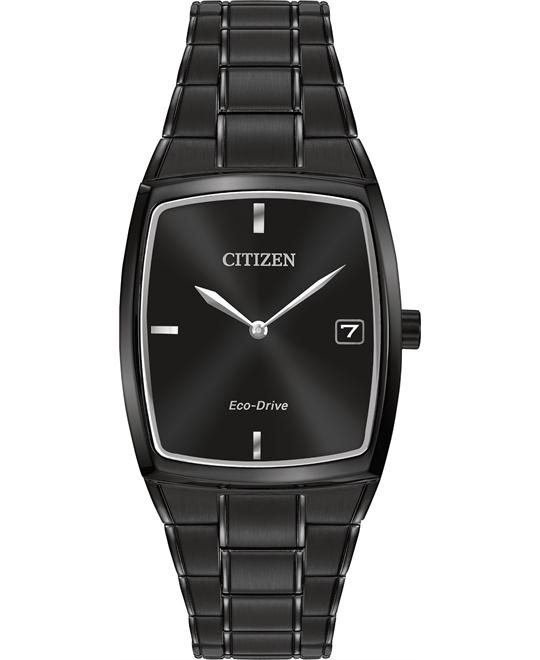 CITIZEN Eco-Drive Black Men's Dress Watch 44x32mm