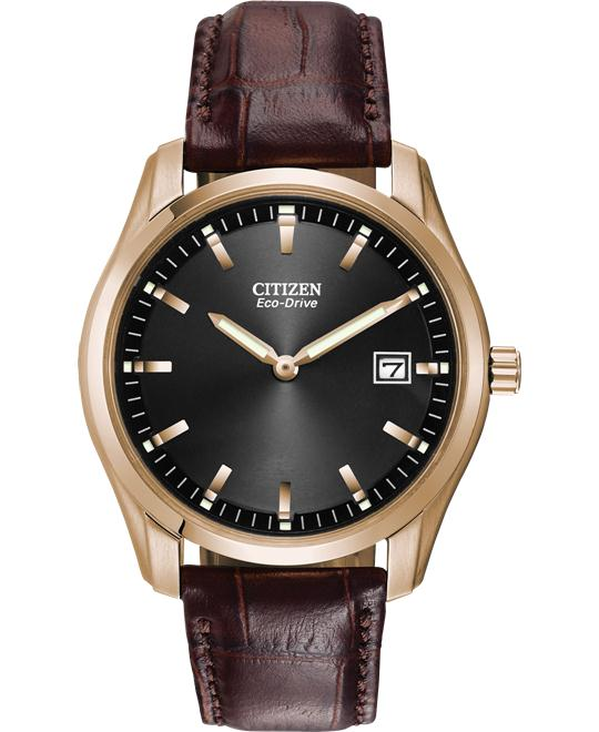 CITIZEN Eco Drive Leather Men's Watch 40mm
