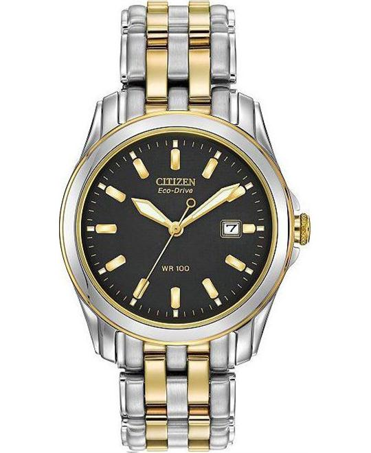 CITIZEN Eco Drive Two Tone Men's Watch 39mm