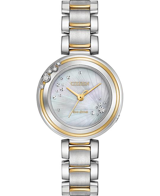 Citizen L CARINA 6-Diamond Eco-Drive Ladies Watch 28MM