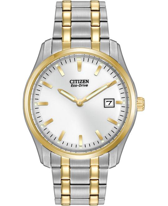 Citizen Men's Analog Japanese Quartz Two Tone, 38mm