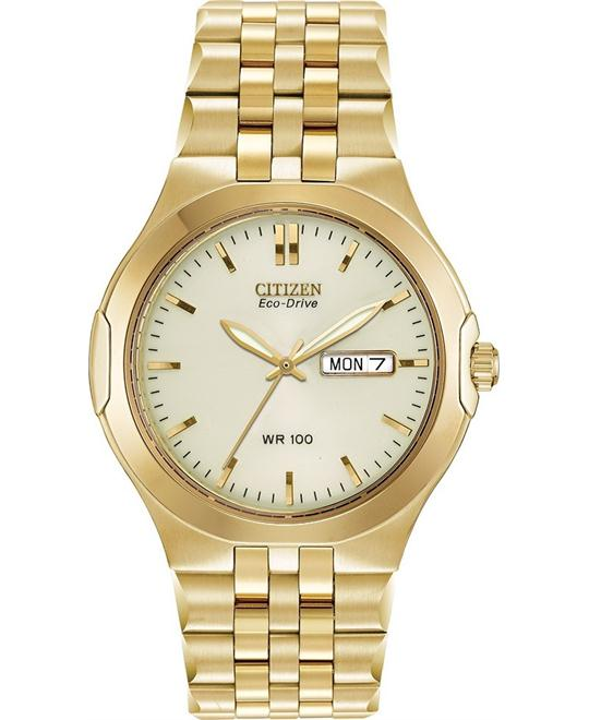 Citizen Men's Eco-Drive Corso Gold-Tone Watch, 38mm