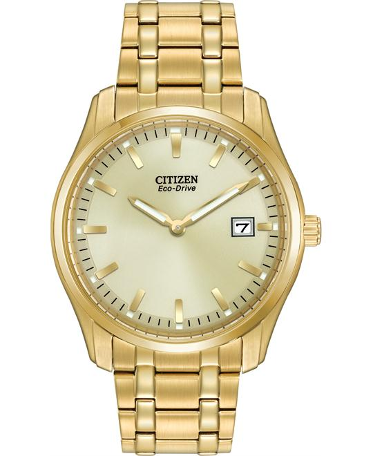 Citizen Men's Eco Drive Display Gold Watch, 38mm