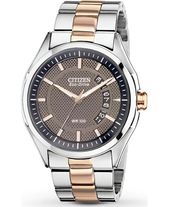 Citizen Men's Eco-Drive HTM 2.0 Rose Gold Watch, 43mm