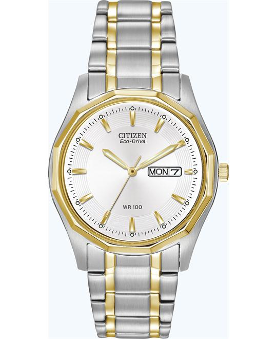 Citizen Men's Eco-Drive WR100 Sport Watch, 37mm