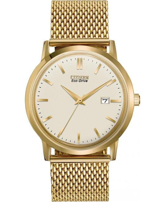 "Citizen Men's ""Mesh Collection"" Eco-Drive Watch, 40mm"
