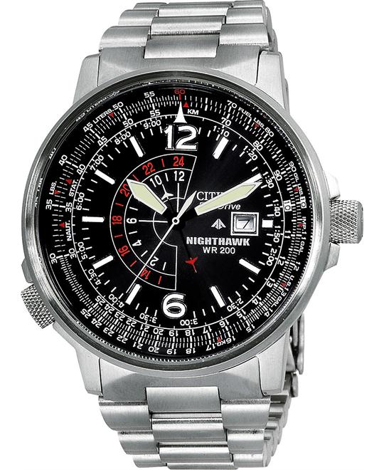 "Citizen Men's ""Nighthawk"" Eco-Drive Watch, 41mm"