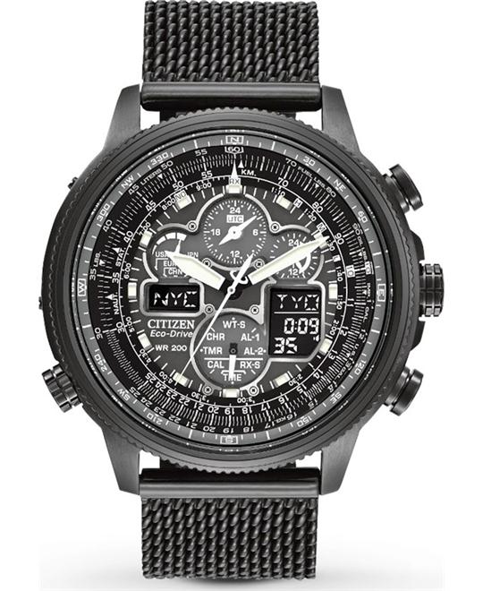 CITIZEN Navihawk A-T Eco-Drive Chrono Watch 48mm