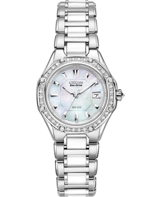 Citizen Octavia Ceramic Diamond Eco-Drive Watch 29mm