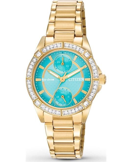 Citizen POV Eco-Drive Blue Dial Ladies Watch 33mm