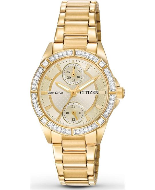 Citizen POV Eco-Drive Champagne Dial Ladies Watch 33mm