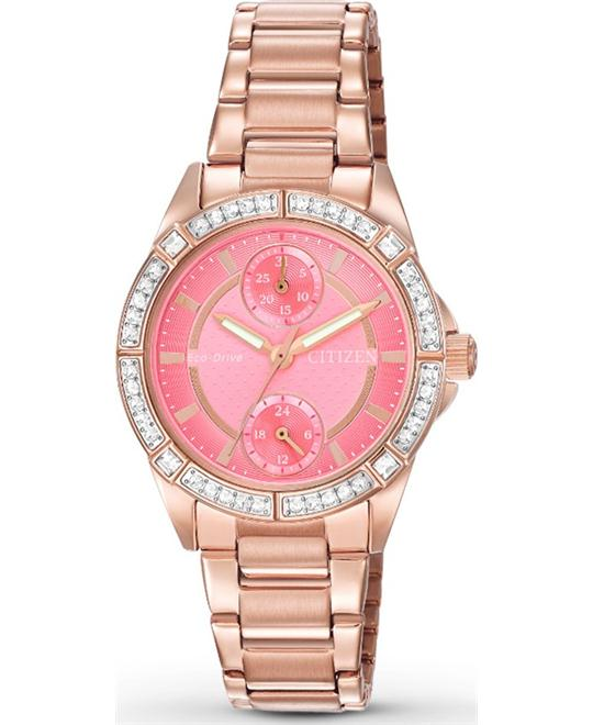 Citizen POV Eco-Drive Coral Dial Ladies Watch 33mm