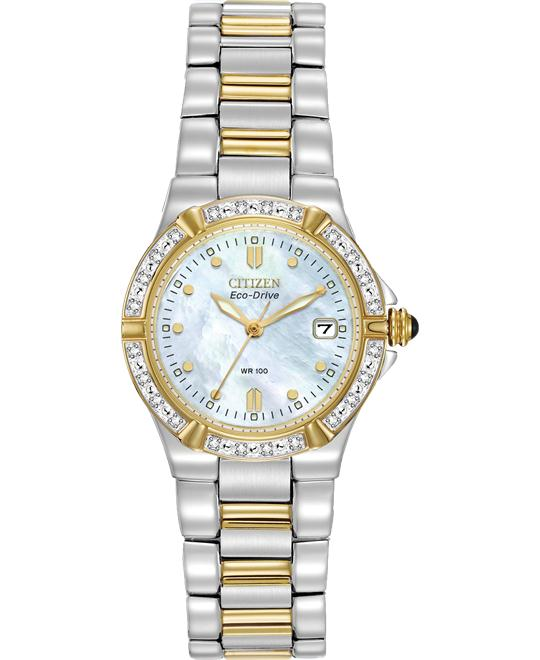 đồng hồ Citizen Riva Diamond Eco-Drive Watch 26mm