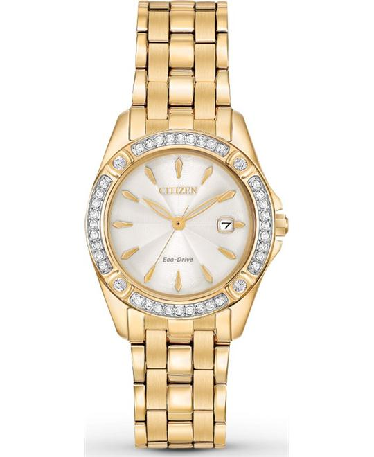 CITIZEN Silhouette Crystal Champagne Watch 28mm