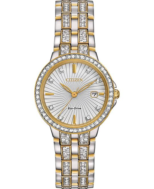 CITIZEN Silhouette Crystal Ladies Watch 28mm