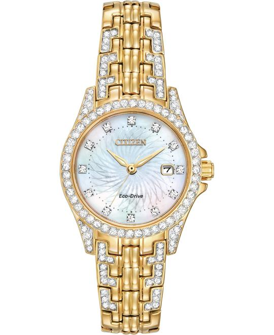 CITIZEN Silhouette Crystal Mother of Pearl Ladies Watch 28mm