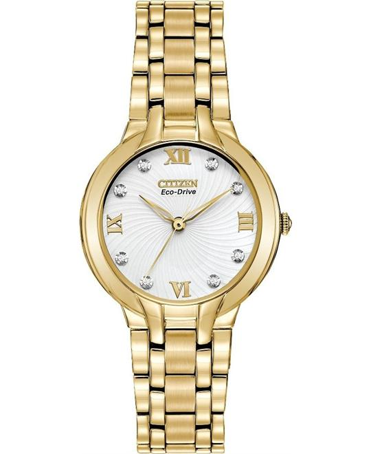 "Citizen Women's ""Bella"" Eco-Drive Watch with Diamonds, 29mm"