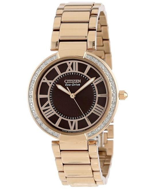 Citizen Women's d'Orsay Eco-Drive Rose Gold Watch 34mm