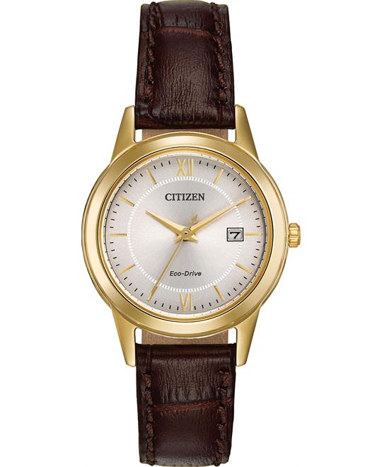 Citizen Women's Japanese Quartz Brown Watch 28mm