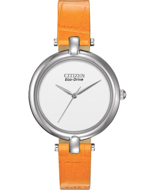Citizen Women's Silhouette Straps Orange Watch, 34mm