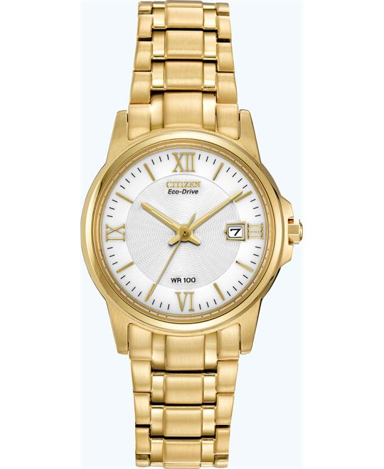 Citizen Women's Stainless Eco-Drive Watch, 28mm