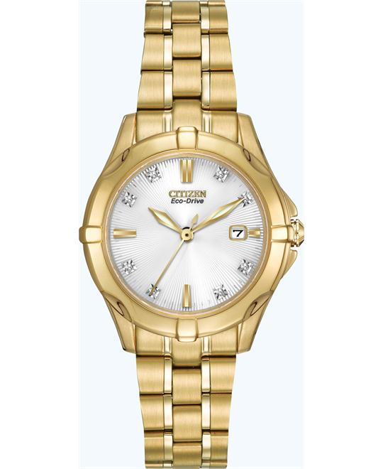 Citizen Women's Stainless Watch with Diamonds, 29.5mm