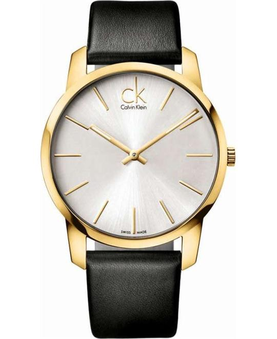 City Men's Watch Dial/Cace Color: Silver/Gold 43mm