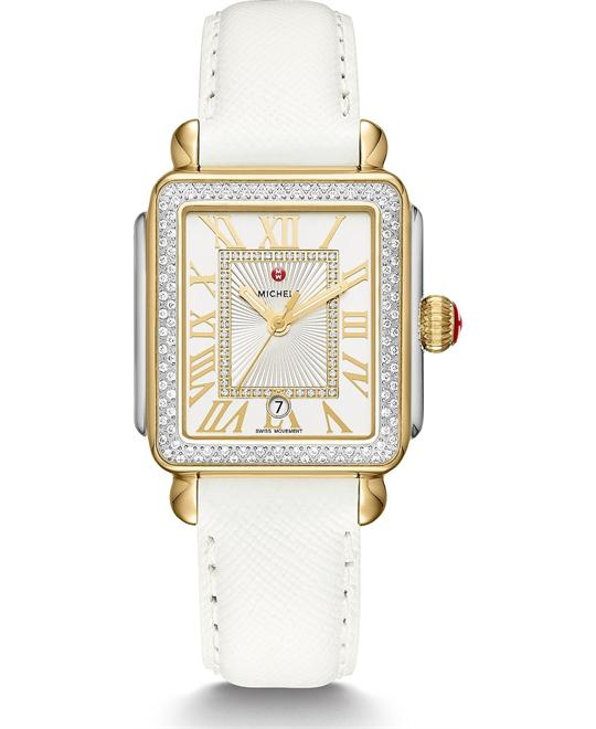 Deco Madison Diamond Leather Watch 33*35mm