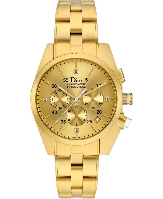 DIOR CHIFFRE ROUGE CD084850M001 18K Gold 38mm