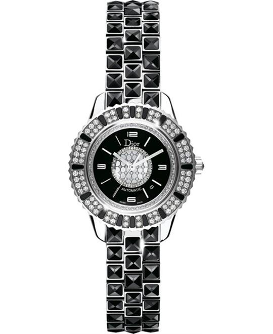 Dior Christal CD113511M001 Automatic Black Ladies 33mm