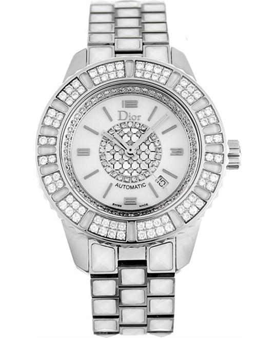 Dior Christal CD113512M001 White Sapphire Diamond Ladies 33mm