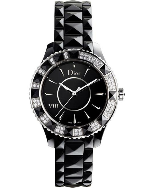 Dior VIII CD1241E0C001 Diamond Black Ceramic Ladies 39mm