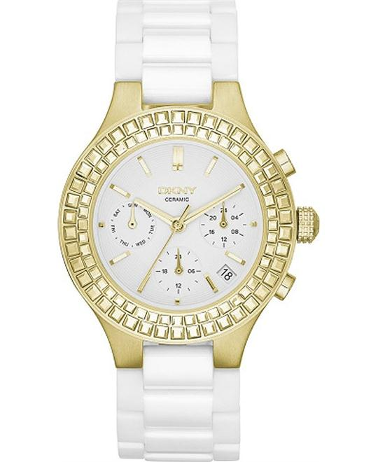 DKNY Chambers  Ceramic Ladies Watch 38mm