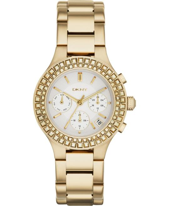 DKNY Chambers Chronograph Pearlized Ladies Watch 38mm