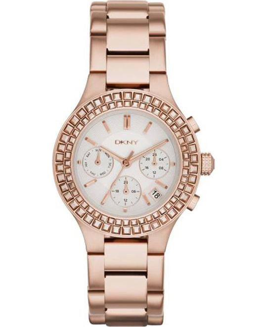 DKNY Chambers Rose Gold-plated Ladies Watch 38mm