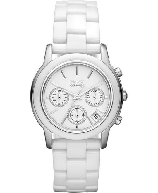 DKNY Ladies Ceramic Fashion Watch 38mm