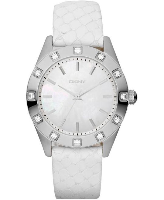 DKNY Ladies Neutrals White Watch, 36mm