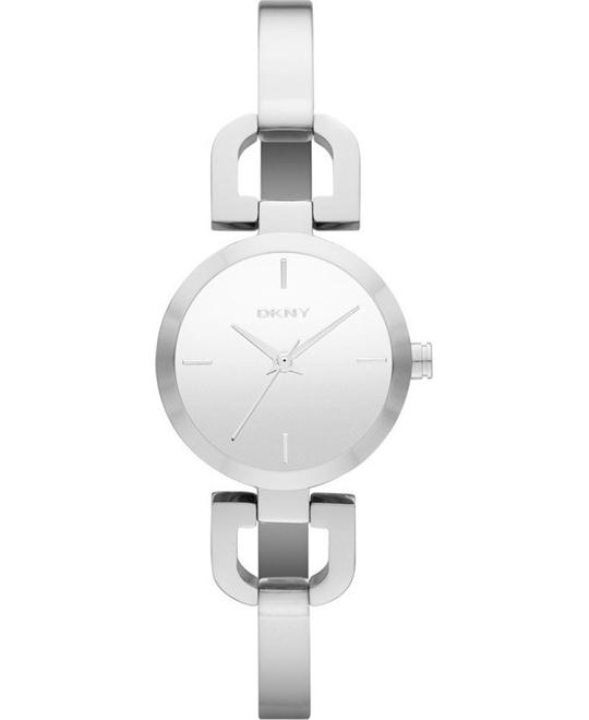 DKNY Silver Dial Stainless Steel Ladies Watch 24mm