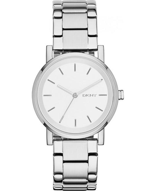 DKNY Soho White Stainless Ladies Watch 34mm