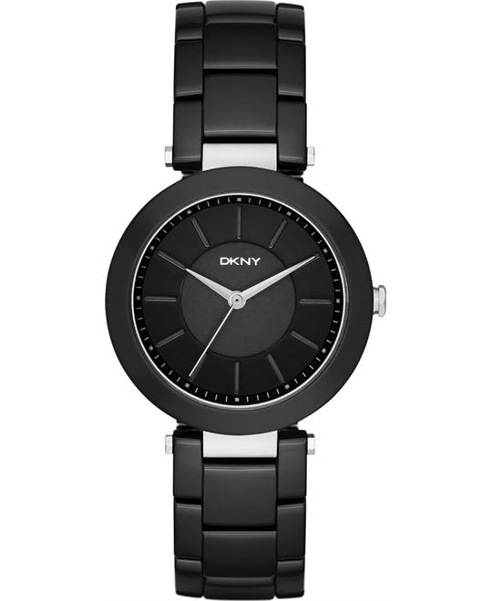 DKNY Stanhope Black Ceramic Ladies Watch 36MM