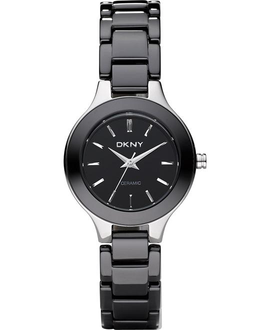DKNY Watch, Women's Black Ceramic, 30mm