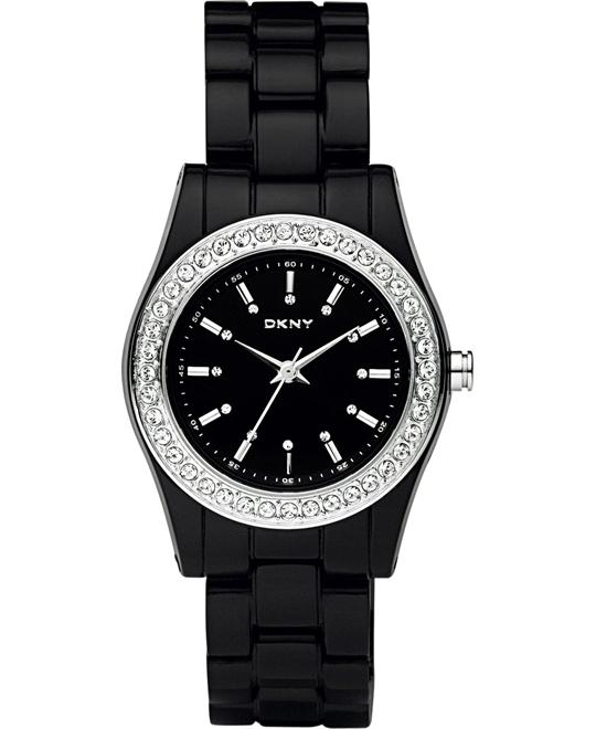 DKNY Watch, Women's Black Plastic, 31mm