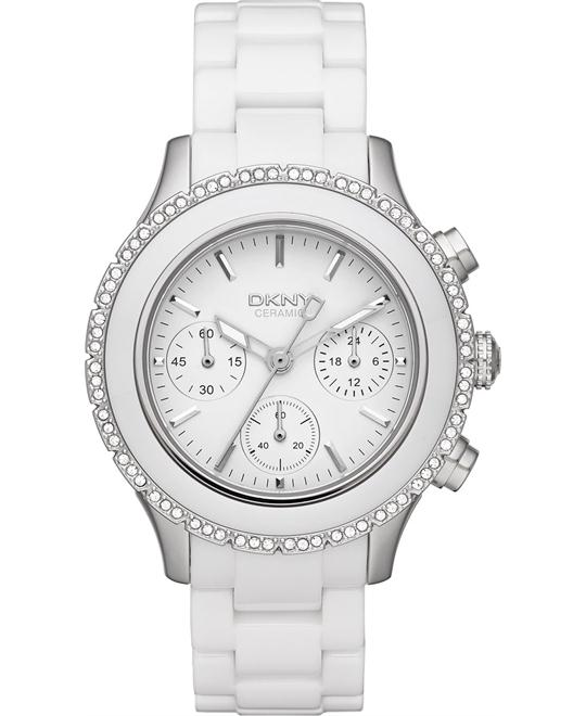 DKNY Watch, Women's Chronograph ceramic 42mm