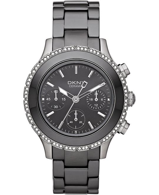 DKNY Watch, Women's Chronograph Ceramic 40mm