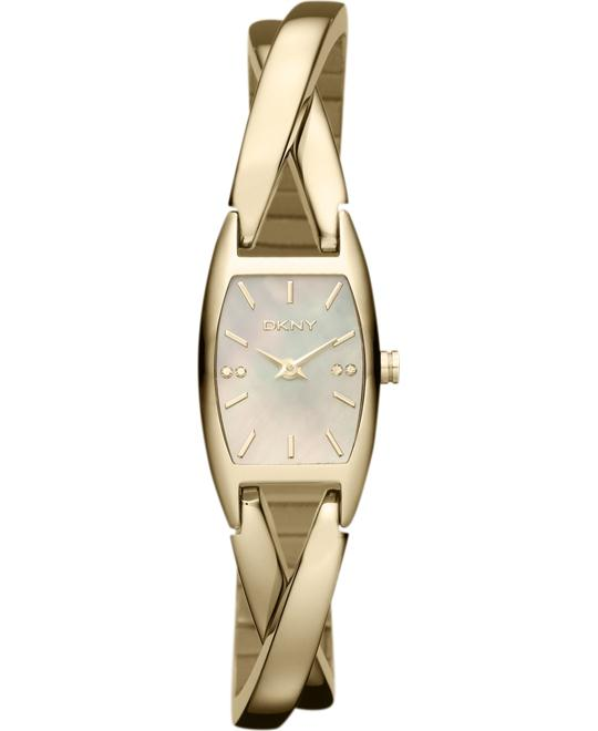 DKNY Watch, Women's Gold Ion-Plated 31x18mm