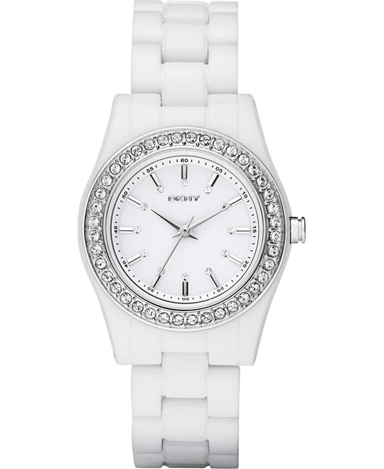 DKNY Watch, Women's White Plastic Bracelet