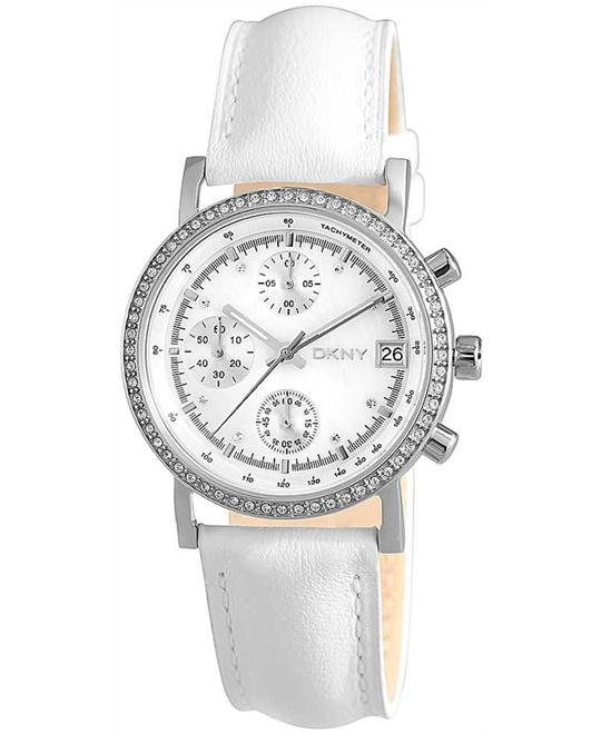 DKNY White Chronograph Ladies 2014, 37mm