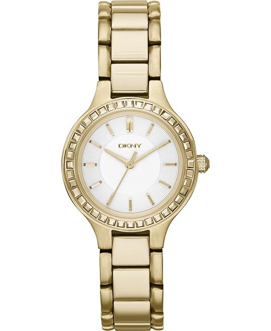DKNY Women's Chambers Gold-Tone Watch 28mm