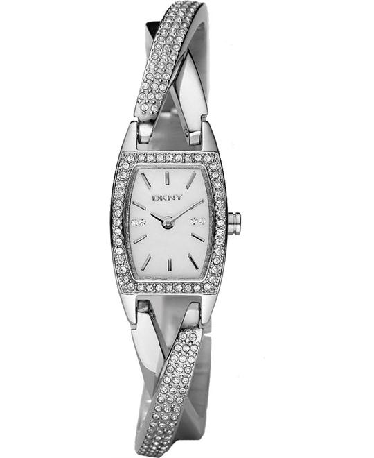 DKNY Women's Crystal Accented Stainless Watch, 18mm