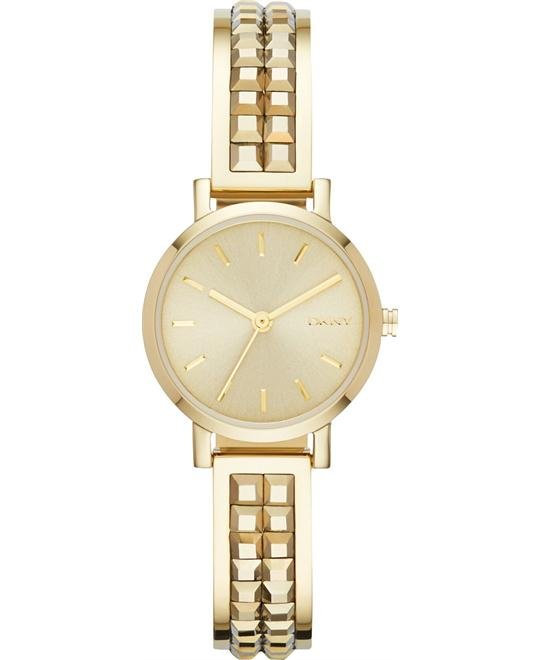 DKNY Women's Soho Gold-Tone Watch 24mm